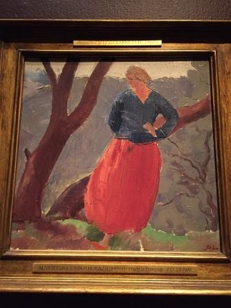 Photograph Of Painting By Augustus John Entitled Study In Provence
