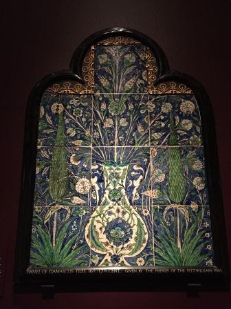 Picture Of A Panel Of Islamic Tiles At The Fitzwilliam Museum In Cambridge